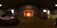Fireplace HDRI probe